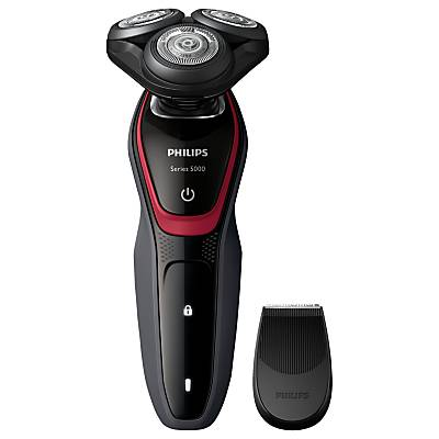 Philips S5130/06 Dry Electric Shaver, Grey / Red