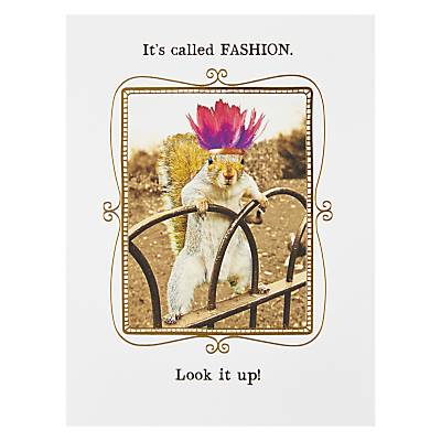 Pigment It's Called Fashion Greetings Card, size: Singles