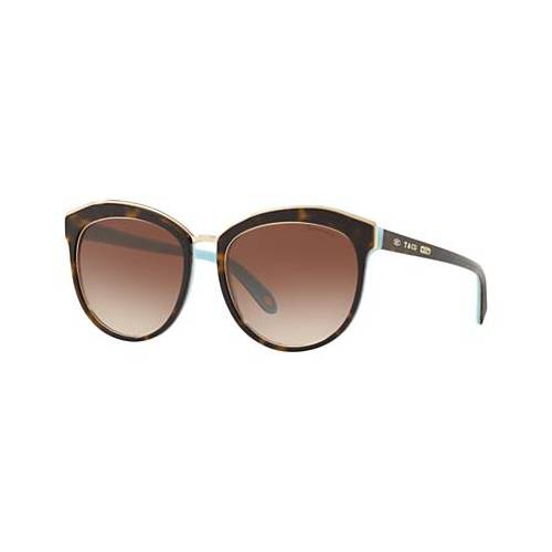 Tiffany & Co TF4146 Women's Oval Sunglasses, Tortoise/Brown Gradient