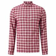Kin by John Lewis Ombre Check Shirt, Wine