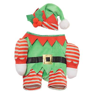 Rosewood Christmas Elf Pet Costume, Multi, size: XS/10""