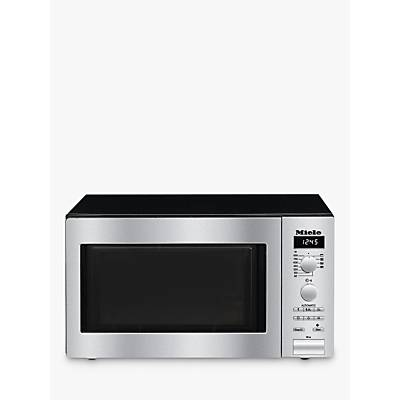 Miele M6012 ContourLine Microwave Oven with Grill, Stainless Steel
