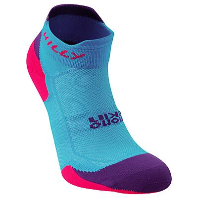 Hilly Lite Cushion Mono Skin Socklets, Blue/Purple, size: 3-5.5
