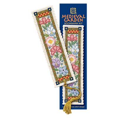 Textile Heritage Medieval Garden Bookmark Counted Cross Stitch Kit, Multi