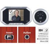 Somikon Digitale Türspion-Kamera mit 8,9-cm-Display, PIR, Aufnahme, Nachtsicht