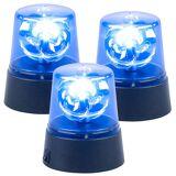 Lunartec 3er-Set LED-Partyleuchten im Blaulichtdesign, mit 360°-Beleuchtung