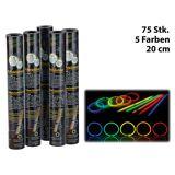 Pearl 75 Lightsticks (Knicklichter) in 5 Neon-Leuchtfarben, 20 cm Länge
