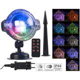 Lunartec LED-Kugellampe mit Schneefall-Effekt und Timer, weiss + RGB, IP44