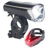 Pearl Fahrrad-Akku-Front- & -Rücklicht mit Halterungen, USB-Ladung, IPX4