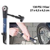 AGT Mini-Fahrradpumpe für Rennräder & Mountainbikes, Manometer bis 9 bar