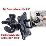 """Callstel Fahrradhalterung mit Gummifixierung für Smartphones bis 13,9 cm (5,5"""")"""