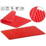 Rosenstein & Söhne 2er-Set Silikon-Backmatten mit Pyramiden-Noppen, antihaftbeschichtet
