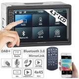 Creasono 2-DIN-DAB+/FM-Autoradio, Touchdisplay, Bluetooth, Freisprecher, 4x45 W