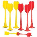 Playtastic 6er-Set magnetische Dartpfeile, je 3x gelb und rot