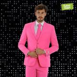 Funnysuits Pinker Anzug Funnysuits Flamingogo 3-teiliger Anzug Kostüm deluxe E...