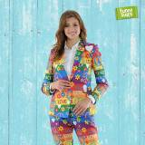 Funnysuits Signore vestito di Peacemaker 60 Rainbow flower power 2-piece costu...