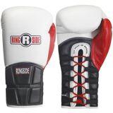 Ringside Boxing Pro stile FMI Tech formazione guanti di pizzo - bia...