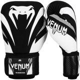 Venum Impact crochet et boucle formation gants de boxe - noir/blanc