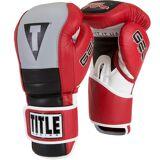 Title Boxing Gel Rush Custom Form Fit Hook and Loop Bag Gloves - Re...