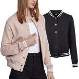 Urban classics ladies - College baseball sweat fleece jacket