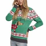Urban Classics Ladies - Sausage Dog Christmas Sweater grün Celtic G...