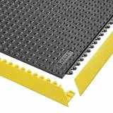 Bodenplatten-Stecksystem, Nitrilgummi, genoppt LxBxH 910 x 910 x 13 mm schwarz
