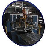 EUROKRAFT Rundspiegel mit Teleskop-Wandarm zur festen Montage Spiegel-Ø 400 mm