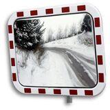 Verkehrsspiegel aus Acrylglas rechteckig Spiegelmaße BxH 800 x 600 mm