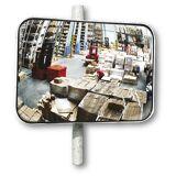 EUROKRAFT Universal-Spiegel für innen und außen rechteckig, Halterung zur Pfostenmontage BxH 1000 x 800 mm