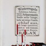 LOBERON Dekoboard Winterregeln