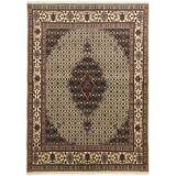 Nain Trading Perserteppich Moud Mahi 201x149 Beige/Dunkelbraun (Handgeknüpft, Persien/Iran, Wolle mit Seide)