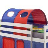 IDIMEX Tunnel MAX für Spielbett Hochbett,  in blau/rot