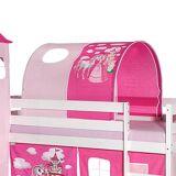 Idimex Tunnel PRINZESSIN für Spielbett  in pink/rosa