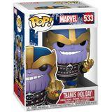 Marvel FUNKO POP Vinylfigur! -  Marvel Thanos (Holiday) Funko Pop Vinylfigur-multicolor - Offizieller & Lizenzierter Fanartikel - Offizieller & Lizenzierter Fanartikel