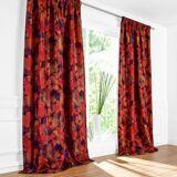Vorhang Magnolia - 1 Stück, 132 x 245 cm - Aubergine/Rot