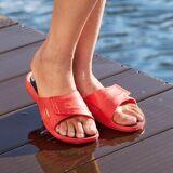 Fashy AquaFeel Damen- oder Herren-Badeschuhe, 41/42 - Rot/Schwarz - Damen