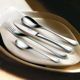 Robert Welch RW II Design-Besteck, satiniert, 24-teilig enthält je 6 Messer, Esslöffel, Gabeln, Teelöffel