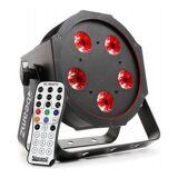 Beamz BFP120 FlatPAR 4-in-1 LED-Strahler 5x 8W RGBW-LEDs DMX IR-Fernbedienung