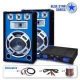"Skytronic PA Set Blue Star Series ""Beatstar"" PA-Verstärker 700W max., PA-Lautsprecher 800W max., inkl. Kabel"