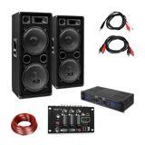 Skytec SPL700EQ Verstärker-Set mit 2 Lautsprechern Mischpult
