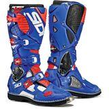 Sidi Crossfire 3 Motocross Stiefel Weiss Rot Blau 45
