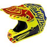 Troy Lee Designs SE4 Factory Carbon MX Helm Gelb M