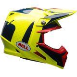 Bell Moto-9 Flex Vice MX Helm Schwarz Gelb L