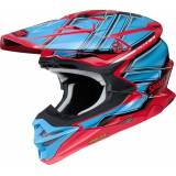 Shoei VFX-WR Glaive Motocross Helm Rot Blau XL
