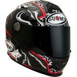 Suomy SR-Sport Dovizioso Carbon Helm Schwarz Weiss Rot S