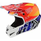 Troy Lee Designs SE4 Composite Jet Motocross Helm Blau Orange M