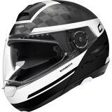 Schuberth C4 Pro Carbon Tempest Motorrad Klapphelm Schwarz Weiss L