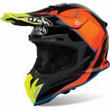 Airoh Terminator Open Vision Slider Motocross Helm Blau Orange L