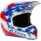 Klim F3 Patriot 2.0 Motocross Helm Weiss Rot Blau S