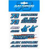 GP-Racing 73 Aufkleber Set Blau Einheitsgröße